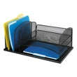 Safco Onyx Desk Organizer with 3 Horizontal and 3 Upright Sections 3254BL