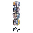 Safco Wire Brochure Display Rack 4128CH (Charcoal) ES3718