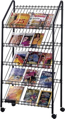 Safco Mobile Literature Rack 4129CH