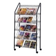Safco Mobile Literature Rack 4129CH (Charcoal) ES3719