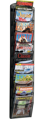 Safco Onyx 10-Pocket Magazine Rack 5579BL (Black)