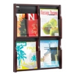 Safco Expose 4 Compartment Literature Display (2 Colors Available) ES3766