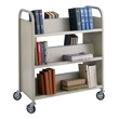 Safco Double Sided 6 Shelf Book Cart 5357SA (Sand) ES4606
