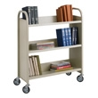 Safco Single Sided 3 Shelf Book Cart 5358SA
