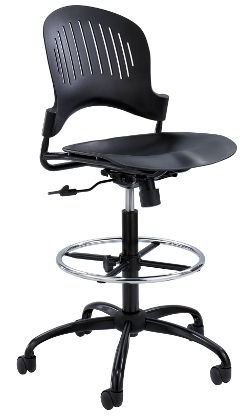 Safco Zippi Plastic Extended Height Chair 3386BL ES4701