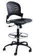 Safco Zippi Plastic Extended-Height Chair 3386BL ES4701