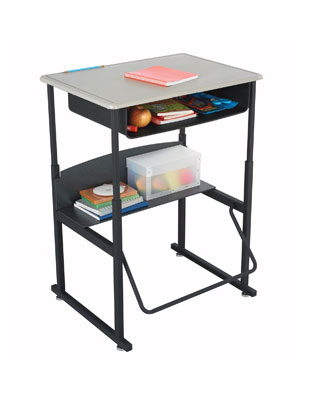 Safco AlphaBetter Desk 28 x 20 with Book Box ES6059 1202BE