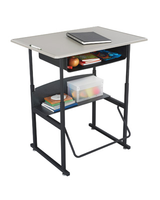 Safco AlphaBetter Desk, 36 x 24 with Book Box - 1207BE