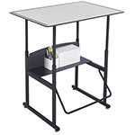 "Safco AlphaBetter 36"" x 24"" Height Adjustable Desk with Gray Premium Top - 1208GR ES6065"