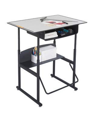 Safco AlphaBetter Desk 36 x 24 Premium Top with Book Box - 1209GR