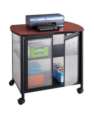 Safco Impromptu Deluxe Machine Stand with Doors 1859BL (Black)