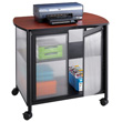Safco Impromptu Deluxe Machine Stand with Doors 1859BL (Black) ES6070