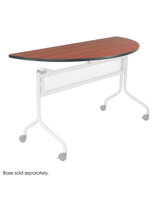 Safco Impromptu Mobile Training Table, Half Round Top - 48 x 24 ES6089