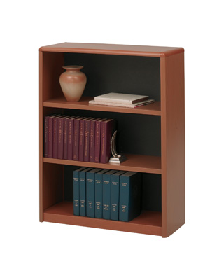 Safco 3-Shelf ValueMate Economy Bookcase 7171CY (Cherry)