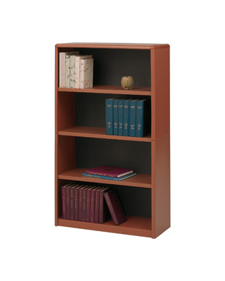 Safco 4-Shelf ValueMate Economy Bookcase 7172CY (Cherry) ES6106