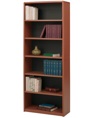 Safco 6-Shelf ValueMate Economy Bookcase 7174CY (Cherry)