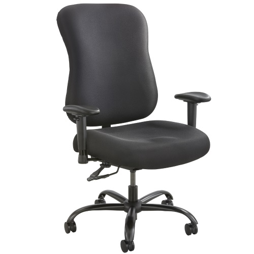 Safco Optimus Big and Tall Desk Chair 400lb Capacity - 3590BL (Black)