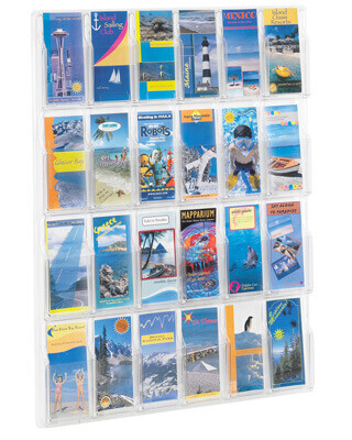 Safco Reveal 24 Pamphlet Display - 5601CL