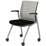 Safco Thesis Stacking and Nesting Training Chair - Static Back with Arms - 2 Chairs - KTS1SGBLK ES6671