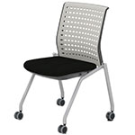 Safco Thesis Stacking and Nesting Training Chair - Static Back without Arms - 2 Chairs - KTS2SGBLK ES6672