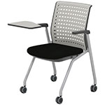 Safco Thesis Stacking and Nesting Training Chair - Static Back with Tablet - 2 Chairs - KTS3SGBLK ES6673