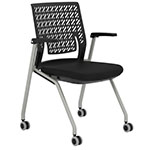 Safco Thesis Stacking and Nesting Training Chair - Flex Back with Arms - 2 Chairs - KTX1SBBLK ES6674