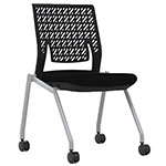 Safco Thesis Stacking and Nesting Training Chair - Flex Back without Arms - 2 Chairs - KTX2SBBLK ES6675