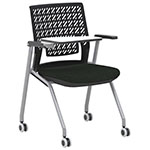 Safco Thesis Stacking and Nesting Training Chair - Flex Back with Tablet - 2 Chairs - KTX3SBBLK ES6676