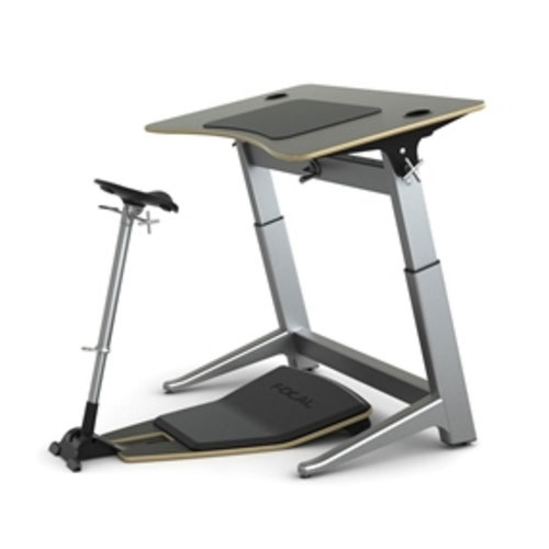 Safco Focal Locus 6 Standing Desk Bundle (4 Seat Colors and 4 Desktop Colors Available)