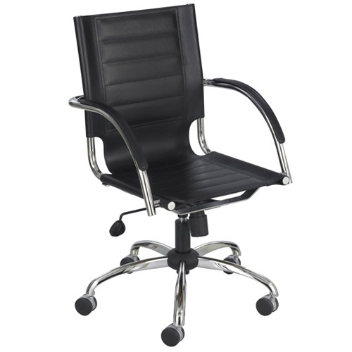 Safco Flaunt Managers Chair Black Leather (3456BL)