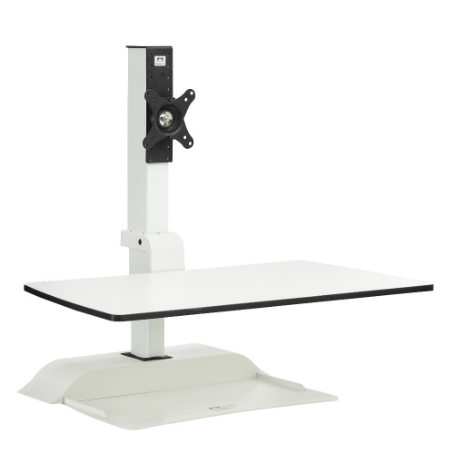 Safco Soar Electric Desktop Sit/Stand -Single Monitor Arm - 2192WH