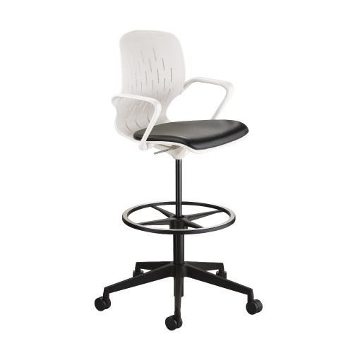 Safco Shell Extended Height Chair - White - 7014WH