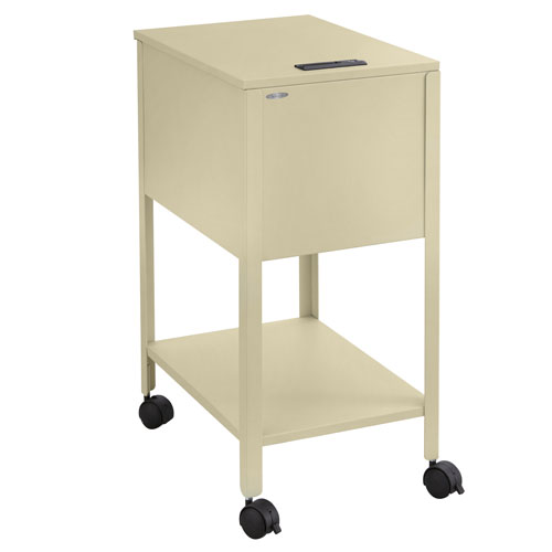 Safco Letter Size Standard Mobile Tub File with Lock - 5361PT