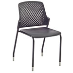 Safco Next Stack Chair - Black - 4287BL (4 Chairs) ET10025