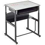 "Safco AlphaBetter 28"" x 20"" Height Adjustable Desk with Dry Erase Top and Book Box - 1204DE ET10613"