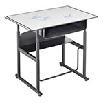 "Safco AlphaBetter 36"" x 24"" Height Adjustable Desk with Dry Erase Top with Book Box - 1209DE ET10615"