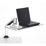 Safco Desktop Sit/Stand Laptop Workstation, Silver - 2132SL