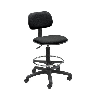 Safco Economy Extended-Height Drafting Chair 3390BL