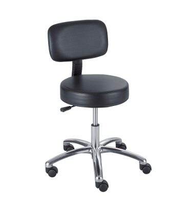 Safco Lab Stool with Back, Pneumatic Lift 3430BL ES3135