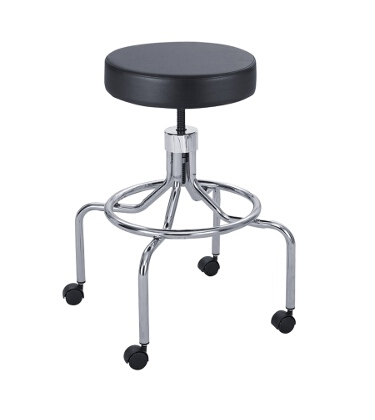 Safco Lab Stool, High Base with Screw Lift 3433BL ES3138