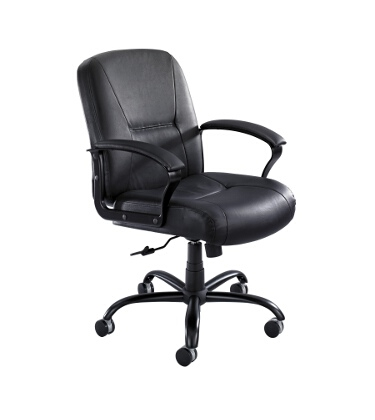 Safco Serenity Big and Tall Mid Back Chair 3501BL