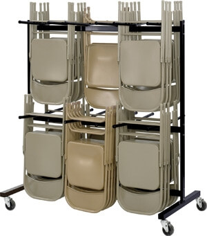 Safco Two-Tier Chair Cart 4199BL