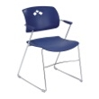 Safco Veer Flex Back Stack Chair (Qty. 4) 4286BU (Blue) ES3173