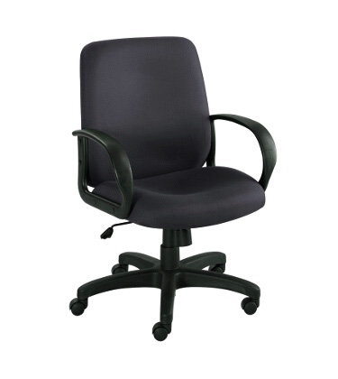 Safco Poise Executive Mid Back Seating 6301BL ES3209