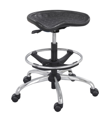 Safco SitStar Stool with Chrome Base 6660BL ES3218