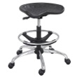 Safco SitStar Stool with Chrome Base 6660BL (Black) ES3218