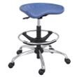 Safco SitStar Stool with Chrome Base 6660BU (Blue) ES3219