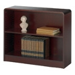 Safco 2-Shelf Radius-Edge Veneer Bookcase 1521MH ES3244