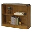 Safco 2-Shelf Radius-Edge Veneer Bookcase 1521MO (Medium Oak) ES3245