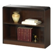 Safco 2-Shelf Radius-Edge Veneer Bookcase 1521WL (Walnut) ES3246